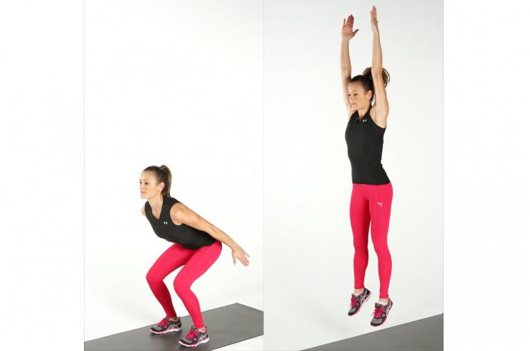 latihan keseimbangan - squad jump